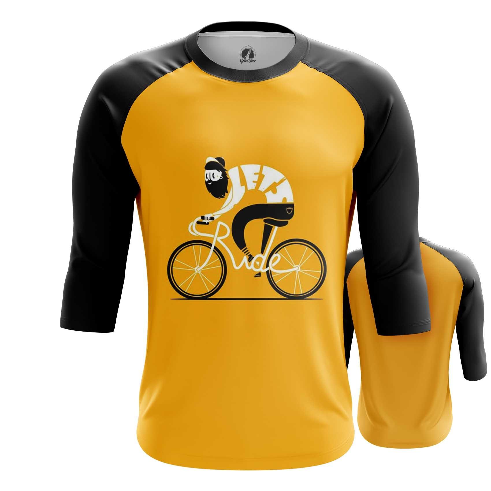 Merch Raglan Cyclist Yellow Bicycle