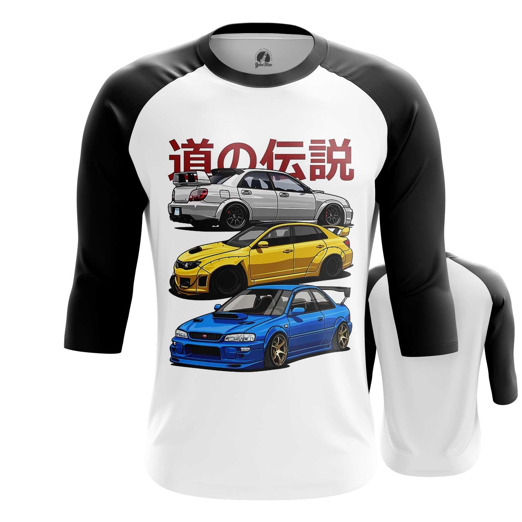 Merchandise Raglan Subaru Cars Japanese