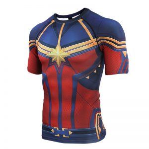Avengers 4 Captain 3D Printed T shirts Men Compression Shirts Raglan Sleeve 2019 Short Sleeve Comics result 1