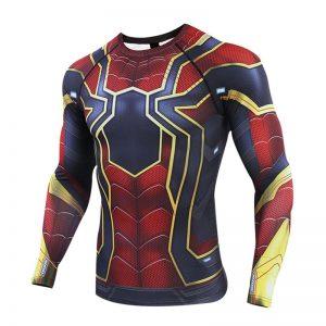 - Avengers 4 Spider Man 3D Printed T Shirts Men Compression Shirts 2019 Raglan Long Sleeve Comics 5 Result