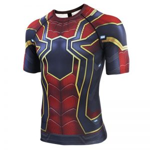 Merch Iron Spider Rashguard Workout Shirt Spider-Man