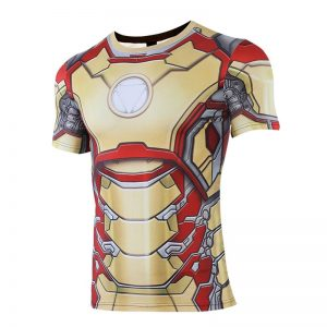 MK42 Iron Man 3D Printed T shirts Men Avengers 4 Endgame Quantum War Compression Shirt Cosplay 1 result