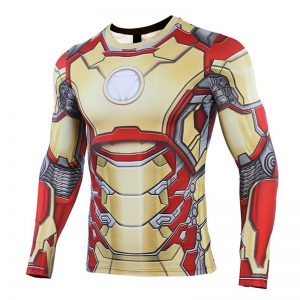 MK42 Iron Man 3D Printed T shirts Men Avengers Compression Shirt Cosplay Costume Captain American Long 1 result 1