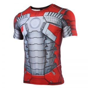 MK5 Iron Man 3D Printed T shirts Men Avengers 4 Endgame Quantum War Compression Shirt Cosplay 1 result