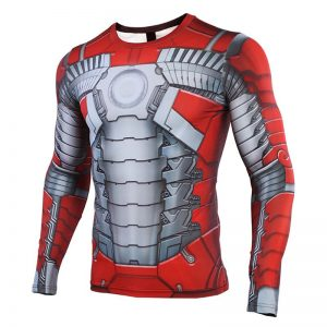 MK5 Iron Man 3D Printed T shirts Men Avengers Compression Shirt Cosplay Costume Captain American Long result