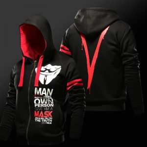 Merch Hoodie V For Vendetta Guy Fawkes Oscar Wilde Quote