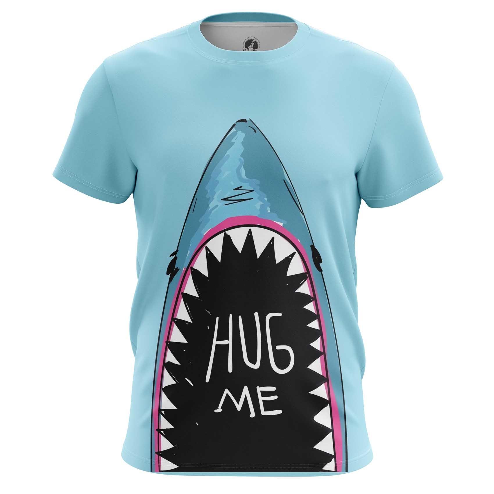 Merch Raglan Hug Me Shark Print