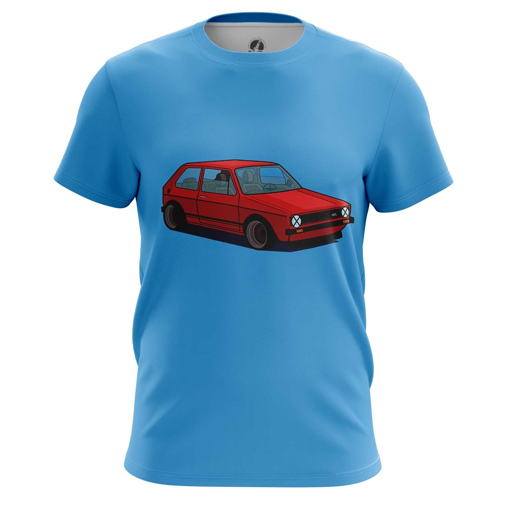 Collectibles Raglan Volkswagen Golf Red Print