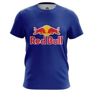 Merch T-Shirt Red Bull Red Blue Logo Top