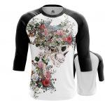 Merch Raglan Floral Skeleton Print