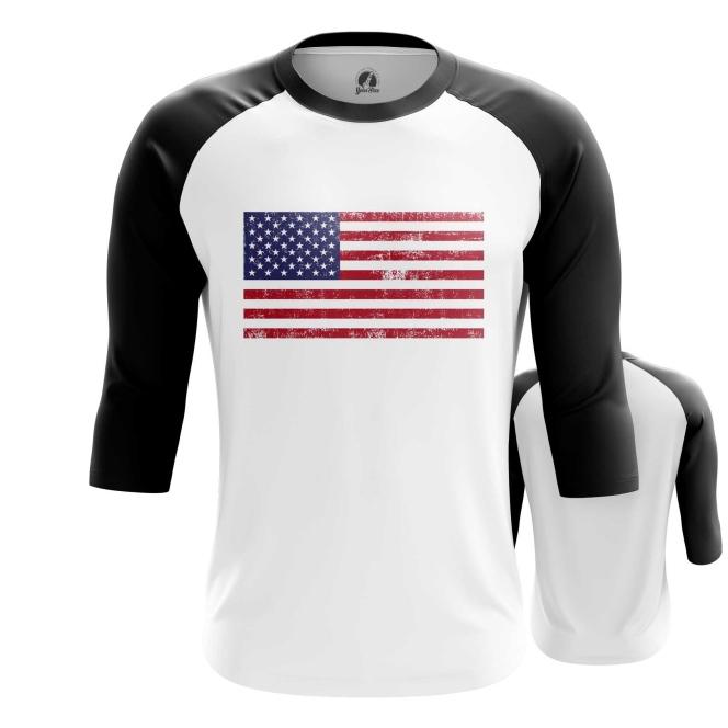 Merch Raglan Usa National Flag