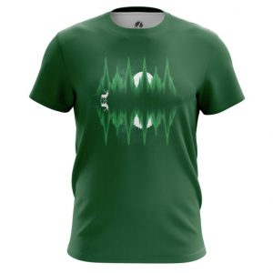 Merch T-Shirt Sound Equalizer Green Print Top