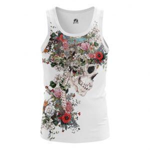 Merchandise Tank Floral Skeleton Print Vest