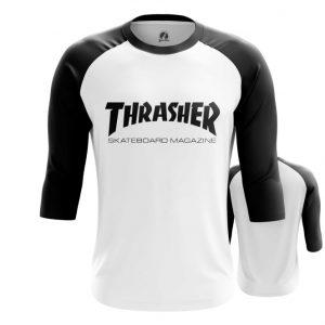 Merch Raglan Thrasher Black Sign Title