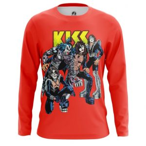 Collectibles Long Sleeve Kiss Red Print Glam