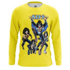 Collectibles Long Sleeve Kiss Yellow Art Glam Rock