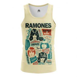 Merchandise Tank Posters Arts Ramones Vest