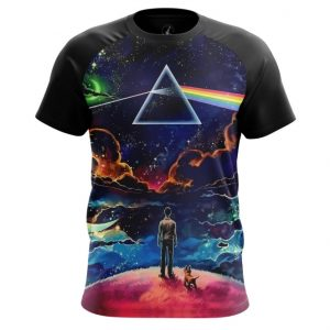 Merch T-Shirt Prism Dark Side Pink Floyd
