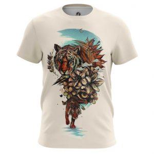 Collectibles Tiger T-Shirt Art Print Animal Painted
