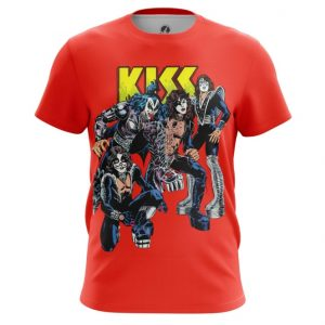 Collectibles T-Shirt Kiss Band Red Print Glam