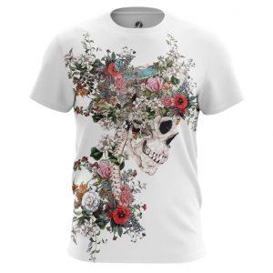 Merchandise T-Shirt Floral Skeleton Print Top