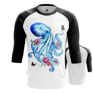Merch Raglan Octopus Floral Blue
