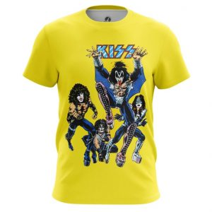 Collectibles T-Shirt Kiss Yellow Art Glam Rock