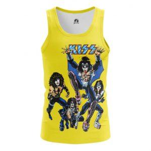 Collectibles Tank Kiss Yellow Art Glam Rock Vest
