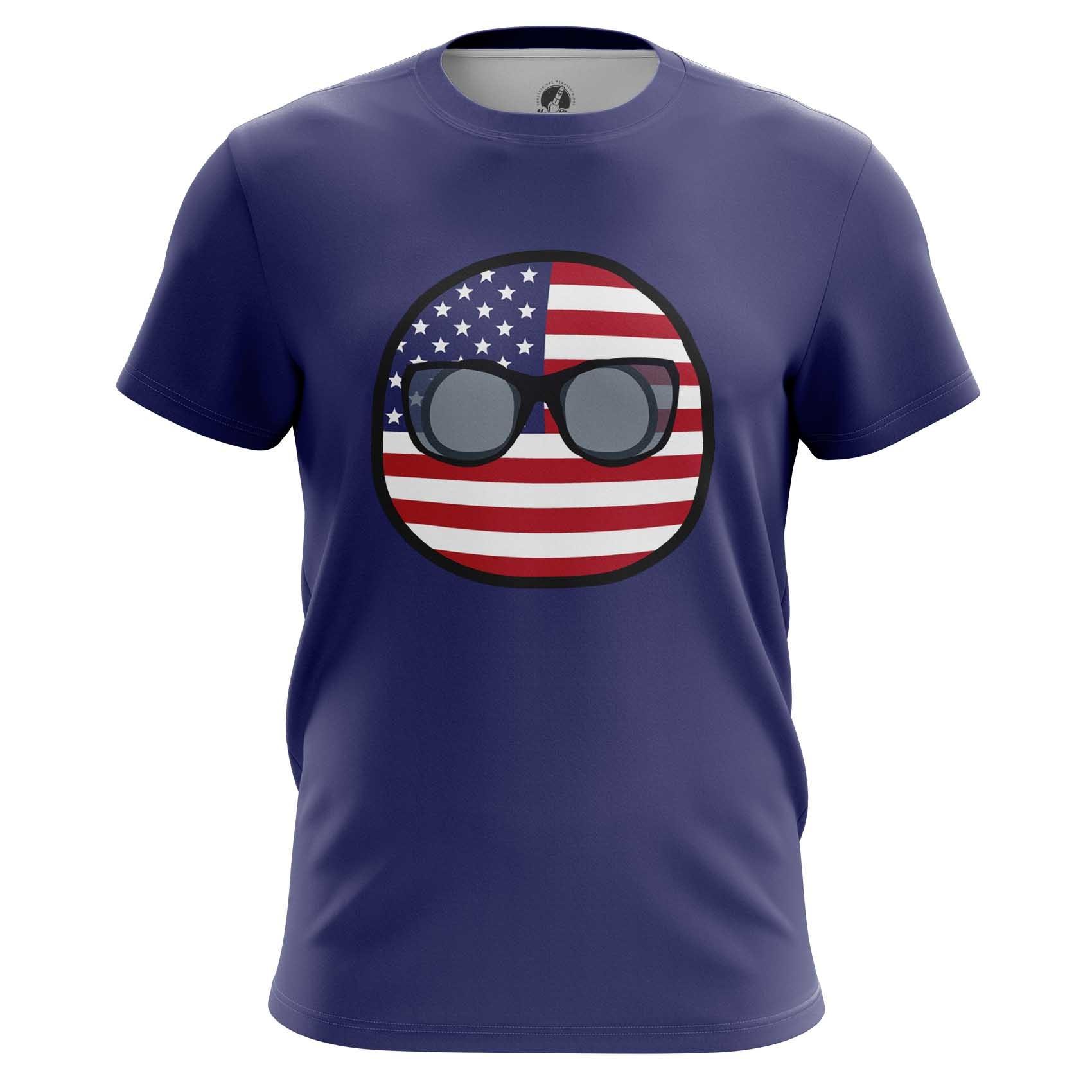 Merch Raglan Usa Country Balls