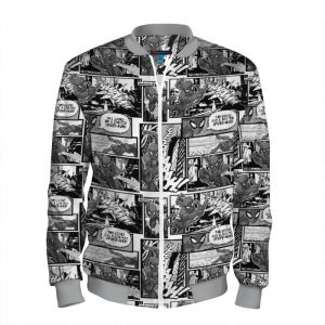 - People 101 Man Bomber Front Grey 700