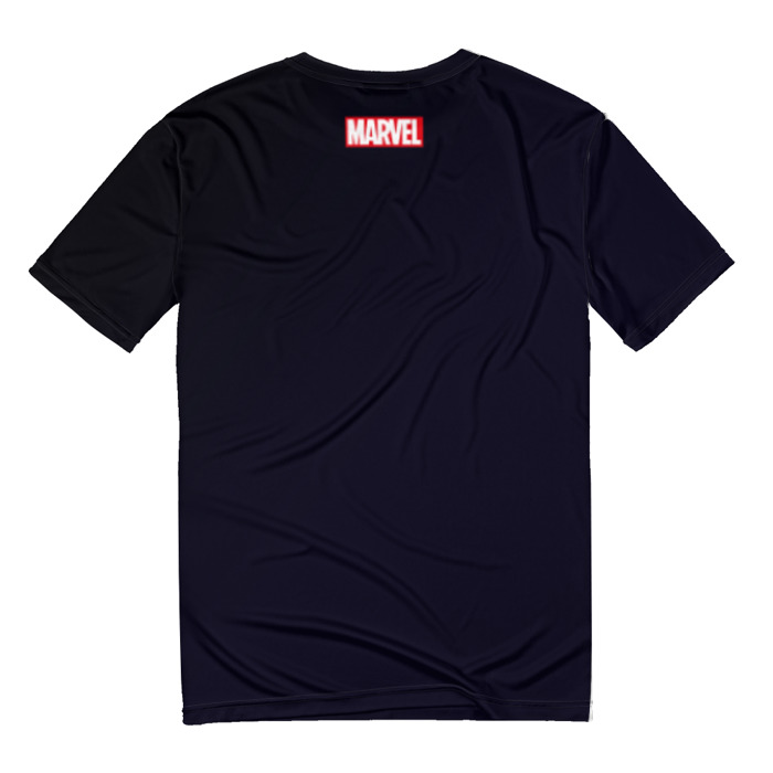 Merch T-Shirt Venom Symbiote Black W/ Spider Logo