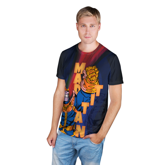 Merchandise T-Shirt Vintage Thanos Titan Retro