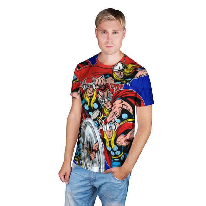 Merchandise T-Shirt Marvel Thor'S Pattern Comics Books