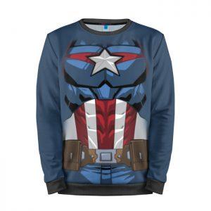 Merchandise Sweatshirt Captain America Torso Print