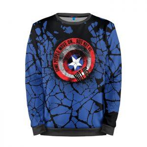 Merchandise Sweatshirt Not Us Rock Captain America