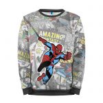 Collectibles Sweatshirt Comics Pages Spider-Man