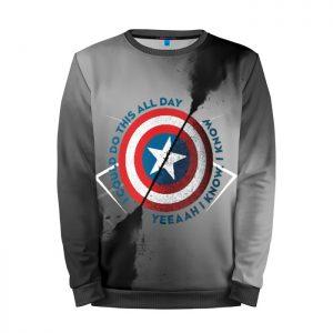 Merchandise Sweatshirt Captain America Shield Logo