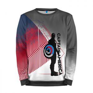 Merchandise Sweatshirt Minimalist Captain America