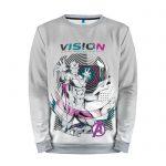 Merch Sweatshirt White Art Vision