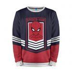 Merch Sweatshirt Red Mask Face Spider-Man