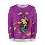 Merch Sweatshirt Mighty Thor Purple Vintage