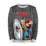 Merch Sweatshirt Mighty Thor Gray