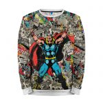 Merchandise Sweatshirt Comics Books Pattern Thor
