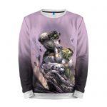 Merch Sweatshirt Hulk Rage Purple