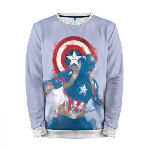Merchandise Sweatshirt Captain America Body Print