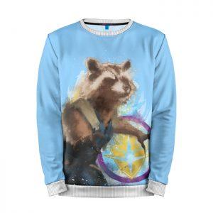 Merchandise Sweatshirt Rocket Raccoon Blue