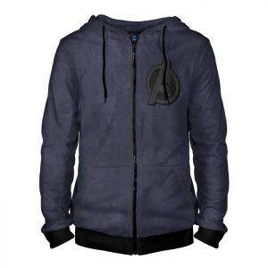 - People 4 Man Hoodie Jacket Front Black 700