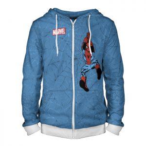 Collectibles Zipper Hoodie Spider-Man Blue Retro 90Th