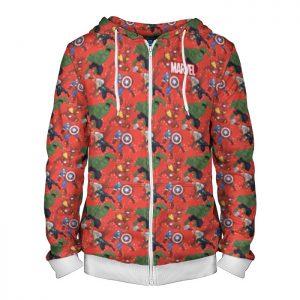 - People 4 Man Hoodie Jacket Front White 700