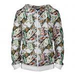 - People 4 Man Hoodie Jacket Front White 700 5